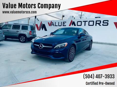 2017 Mercedes-Benz C-Class for sale at Value Motors Company in Marrero LA