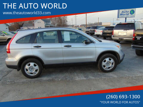 2009 Honda CR-V for sale at THE AUTO WORLD in Churubusco IN