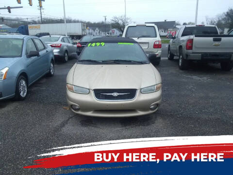 1999 Chrysler Sebring for sale at Marino's Auto Sales in Laurel DE