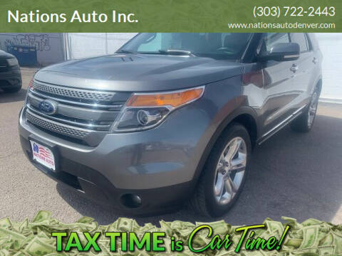 2014 Ford Explorer for sale at Nations Auto Inc. in Denver CO