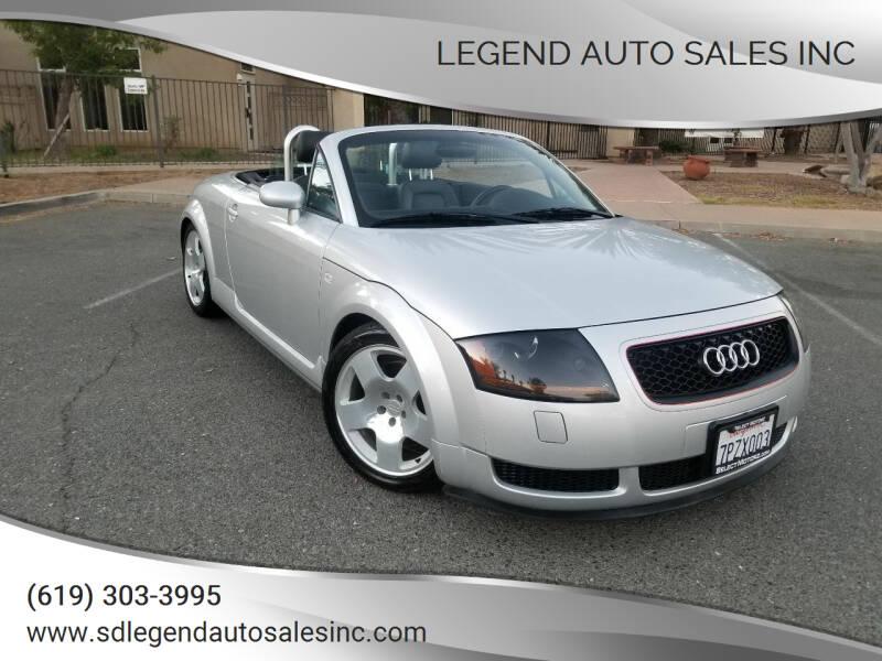 2002 Audi TT for sale at Legend Auto Sales Inc in Lemon Grove CA