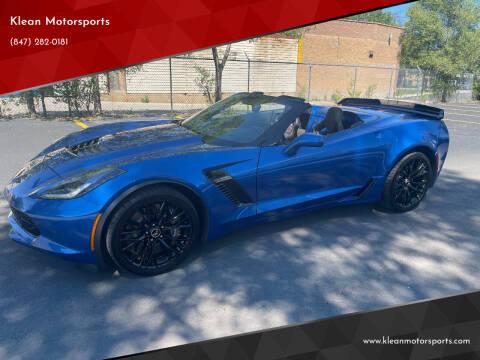 2015 Chevrolet Corvette for sale at Klean Motorsports in Skokie IL