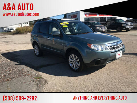 2011 Subaru Forester for sale at A&A AUTO in Fairhaven MA