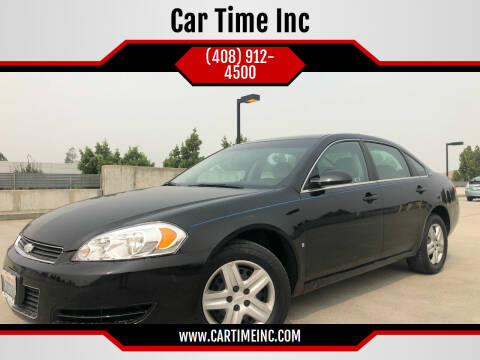 2008 Chevrolet Impala for sale at Car Time Inc in San Jose CA