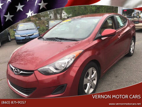 2011 Hyundai Elantra for sale at VERNON MOTOR CARS in Vernon Rockville CT