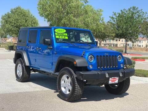 2015 Jeep Wrangler Unlimited for sale at Esquivel Auto Depot in Rialto CA
