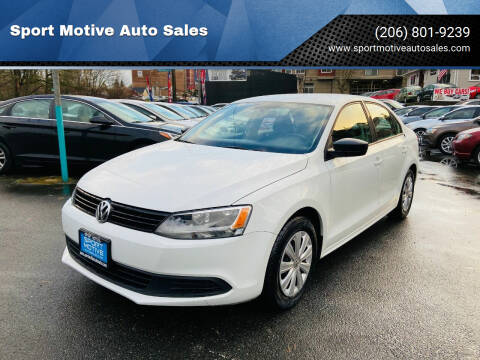 2014 Volkswagen Jetta for sale at Sport Motive Auto Sales in Seattle WA