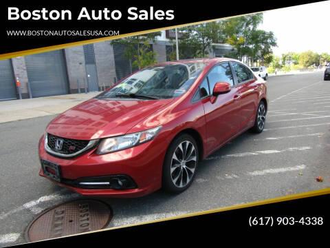 2013 Honda Civic for sale at Boston Auto Sales in Brighton MA