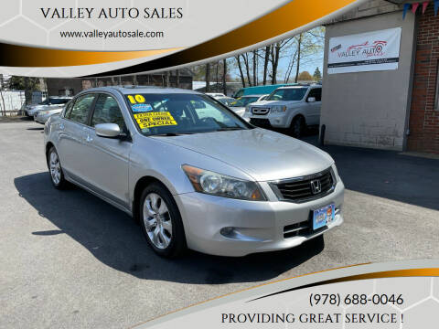 2010 Honda Accord for sale at VALLEY AUTO SALES in Methuen MA