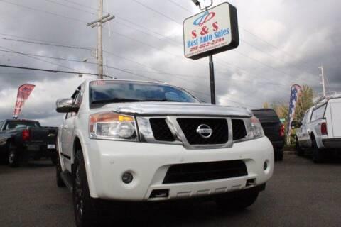 2015 Nissan Armada for sale at S&S Best Auto Sales LLC in Auburn WA