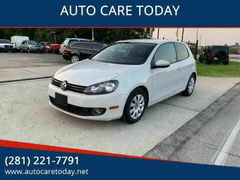 2011 Volkswagen Golf for sale at AUTO CARE TODAY in Spring TX