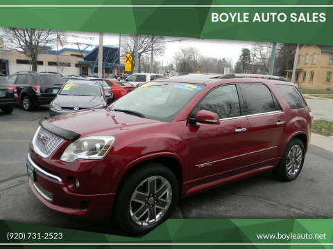 2011 GMC Acadia for sale at Boyle Auto Sales in Appleton WI