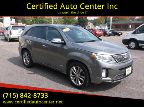 2014 Kia Sorento for sale at Certified Auto Center Inc in Wausau WI