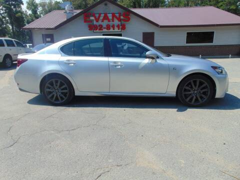 2013 Lexus GS 350 for sale at Evans Motors Inc in Little Rock AR