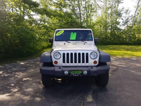 2010 Jeep Wrangler for sale at L & R Motors in Greene ME
