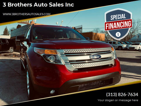 2015 Ford Explorer for sale at 3 Brothers Auto Sales Inc in Detroit MI