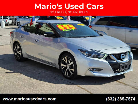 2017 Nissan Maxima for sale at Mario's Used Cars in Houston TX
