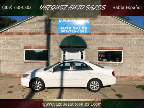 2002 Toyota Camry for sale at VAZQUEZ AUTO SALES in Bloomington IL