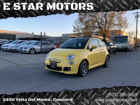 2012 FIAT 500 for sale at E STAR MOTORS in Concord CA
