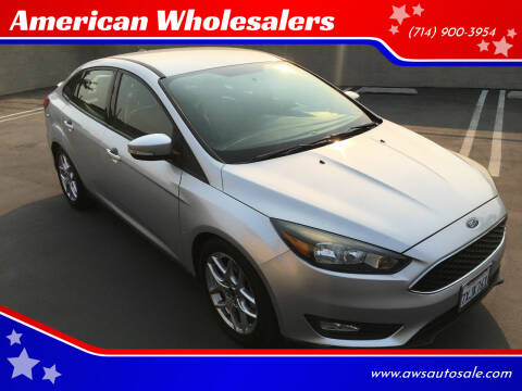 2015 Ford Focus for sale at American Wholesalers in Huntington Beach CA