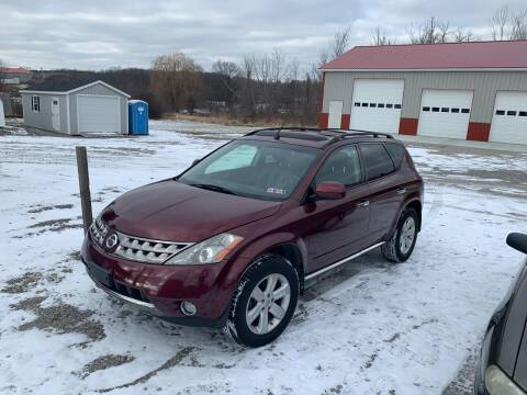 2007 Nissan Murano for sale at Simon Automotive in East Palestine OH