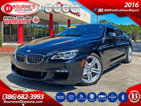 2016 BMW 6 Series for sale at Bourne's Auto Center in Daytona Beach FL