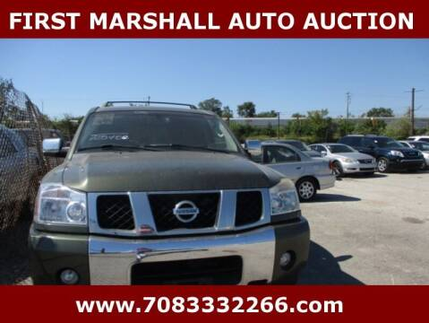 2005 Nissan Armada for sale at First Marshall Auto Auction in Harvey IL