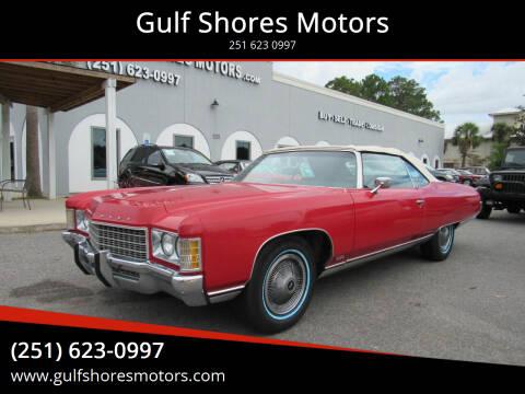 1971 Chevrolet Impala for sale at Gulf Shores Motors in Gulf Shores AL