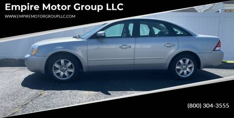 2005 Mercury Montego for sale at Empire Motor Group LLC in Plaistow NH
