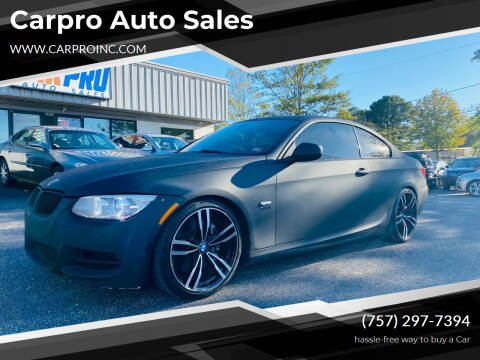 2011 BMW 3 Series for sale at Carpro Auto Sales in Chesapeake VA