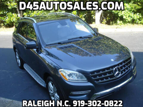 2012 Mercedes-Benz M-Class for sale at D45 Auto Brokers in Raleigh NC