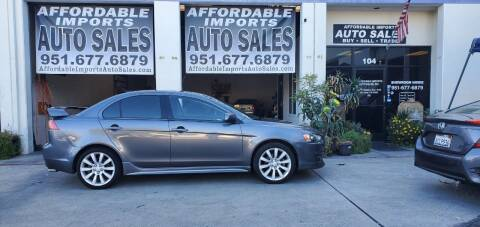 2008 Mitsubishi Lancer for sale at Affordable Imports Auto Sales in Murrieta CA