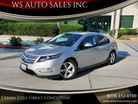 2015 Chevrolet Volt for sale at WS AUTO SALES INC in El Cajon CA