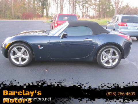 2006 Pontiac Solstice for sale at Barclay's Motors in Conover NC