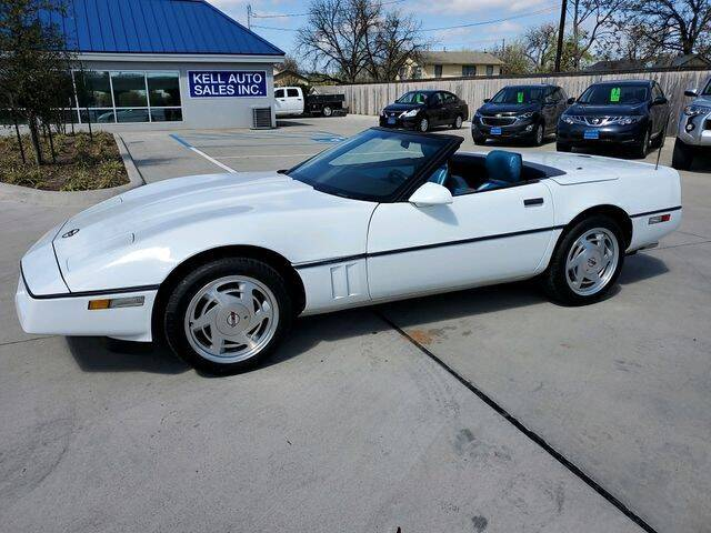 1989 Chevrolet Corvette for sale at Kell Auto Sales, Inc - Grace Street in Wichita Falls TX