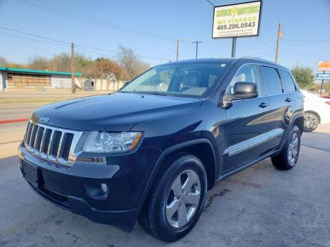 2012 Jeep Grand Cherokee for sale at Shock Motors in Garland TX