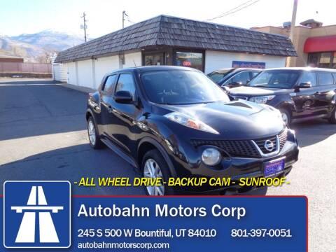 2013 Nissan JUKE for sale at Autobahn Motors Corp in Bountiful UT