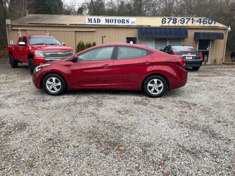 2014 Hyundai Elantra for sale at Mad Motors LLC in Gainesville GA