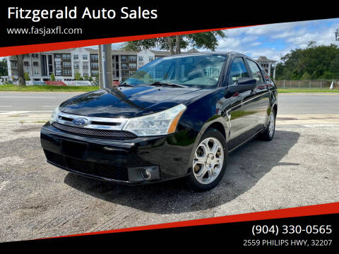 2008 Ford Focus for sale at Fitzgerald Auto Sales in Jacksonville FL