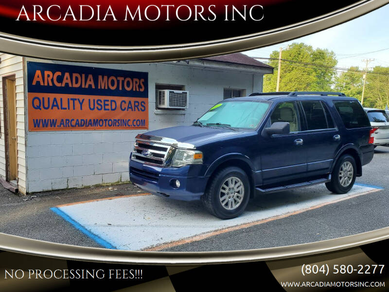 2011 Ford Expedition for sale at ARCADIA MOTORS INC in Heathsville VA