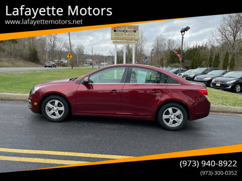 2015 Chevrolet Cruze for sale at Lafayette Motors 2 in Andover NJ