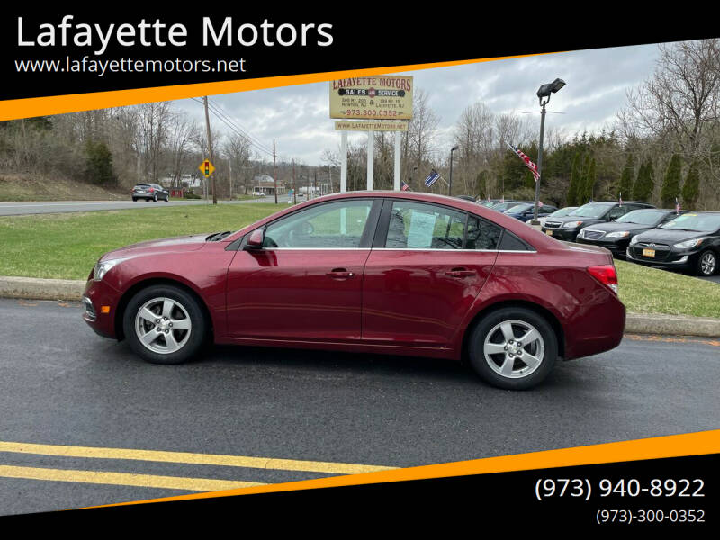 2015 Chevrolet Cruze for sale at Lafayette Motors 2 in Andover NJ