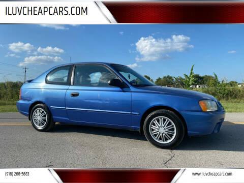 2001 Hyundai Accent for sale at ILUVCHEAPCARS.COM in Tulsa OK