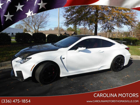 2020 Lexus RC F for sale at CAROLINA MOTORS - Carolina Classics & More-Thomasville in Thomasville NC