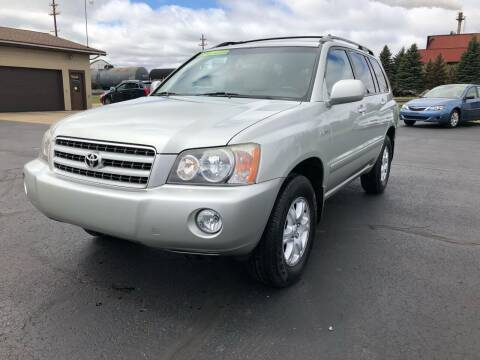 2003 Toyota Highlander for sale at Mike's Budget Auto Sales in Cadillac MI