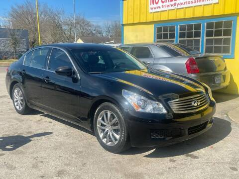 2008 Infiniti G35 for sale at Friendly Auto Sales in Pasadena TX