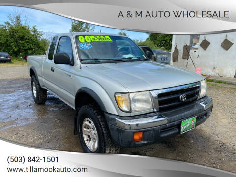 2000 Toyota Tacoma for sale at A & M Auto Wholesale in Tillamook OR
