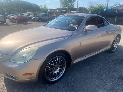 2002 Lexus SC 430 for sale at FAIR DEAL AUTO SALES INC in Houston TX