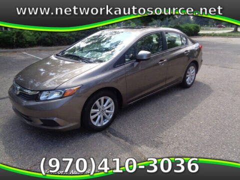 2012 Honda Civic for sale at Network Auto Source in Loveland CO