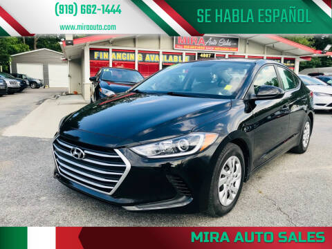 2017 Hyundai Elantra for sale at Mira Auto Sales in Raleigh NC